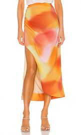 C MEO Blindfold Skirt in Vermillion Ombre from Revolve com at Revolve