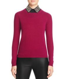 C by Bloomingdale  039 s Embellished Collar Cashmere Sweater at Bloomingdales