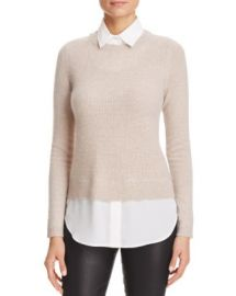 C by Bloomingdale  039 s Layered-Look Waffle Knit Cashmere Sweater at Bloomingdales