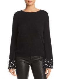 C by Bloomingdale  x27 s Embellished-Cuff Cashmere Sweater - 100  Exclusive  Women - Bloomingdale s at Bloomingdales