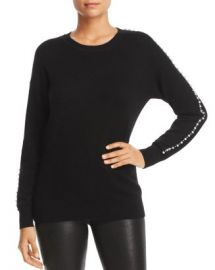 C by Bloomingdale  x27 s Embellished Sleeve Cashmere Sweater - 100  Exclusive  Women - Bloomingdale s at Bloomingdales