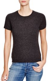 C by Bloomingdaleand039s Short Sleeve Cashmere Sweater in Charcoal at Bloomingdales