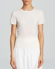 C by Bloomingdaleand039s Short Sleeve Cashmere Sweater in winter white at Bloomingdales
