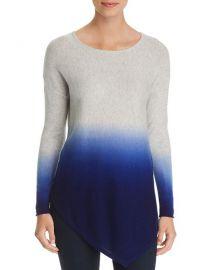 C by Bloomingdales Asymmetric Dip Dye Cashmere Sweater at Bloomingdales