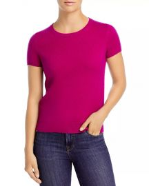 C by Bloomingdales Short-Sleeve Cashmere Sweater at Bloomingdales
