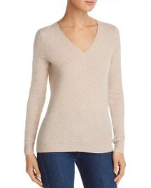 C by bloomingdales vneck cashmere sweater at Bloomingdales