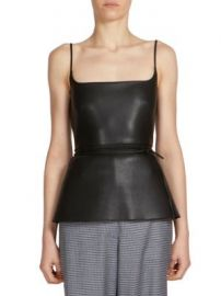 C dric Charlier - Faux Leather Top at Saks Fifth Avenue