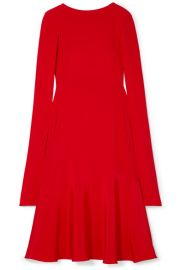 CALVIN KLEIN 205W39NYC - Cape-effect silk-cady midi dress at Net A Porter