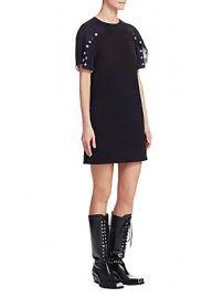 CALVIN KLEIN 205W39NYC - Cotton Snap Dress at Saks Fifth Avenue