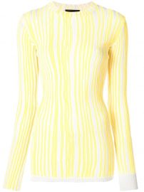 CALVIN KLEIN 205W39NYC STRIPED SWEATER - YELLOW at Farfetch