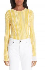 CALVIN KLEIN 205W39NYC Stripe Rib Knit Sweater at Nordstrom