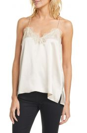 CAMI NYC The Racer Camo Print Silk Camisole   Nordstrom at Nordstrom