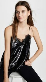 CAMI NYC Racer Sequin Top at Shopbop