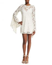 CAMILLA AND MARC Farrow Bell-Sleeve Lace Cocktail Dress  Beige at Neiman Marcus