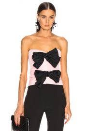 CARMEN MARCH Strapless Bow Top in Pink   FWRD at Forward