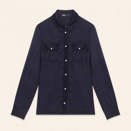 CASTIN Velvet shirt at Maje