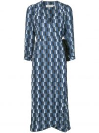 CEFINN DELILAH MAXI WRAP DRESS - BLUE at Farfetch