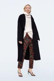 CHAIN PRINTED CIGARETTE PANTS at Zara