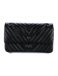 CHANEL 2018 CHEVRON 227 REISSUE FLAP BAG at The Real Real
