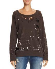 CHASER Distressed Splatter Print Sweatshirt  Women - Bloomingdale s at Bloomingdales