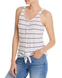 CHASER Striped Tie-Front Tank Women - Bloomingdale s at Bloomingdales