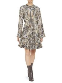CHLOE - PLACED PAISLEY SILK LUREX DRESS at Saks Fifth Avenue