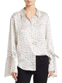 CINQ a SEPT - ELISIA LOVE LETTER SILK BLOUSE at Saks Fifth Avenue