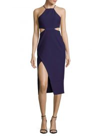CINQ a SEPT - SOLID HALTER CUTOUT DRESS at Saks Off 5th