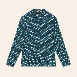 CLELIA Floaty printed shirt at Maje