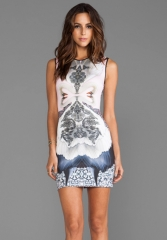 CLOVER CANYON Swan Neoprene Dress in Pink at Revolve