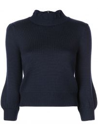 CO BUBBLE SLEEVES KNIT SWEATER - BLUE at Farfetch