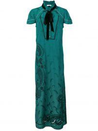 COACH PAISLEY PRINT DRESS - GREEN at Farfetch