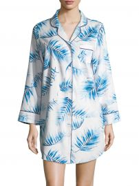 COLLECTION Palm Sateen Sleep Shirt at Saks Fifth Avenue