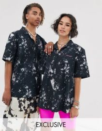 COLLUSION Unisex tie dye printed shirt   ASOS at Asos