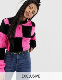 COLLUSION checkerboard sweater   ASOS at Asos