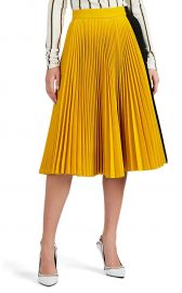 COLORBLOCKED TWILL PLEATED SKIRT COLORBLOCKED TWILL PLEATED SKIRT calvin klein at Barneys