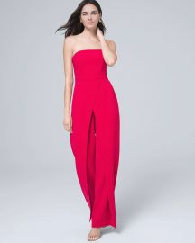 CONVERTIBLE STRAPLESS SPLIT-LEG JUMPSUIT at White House Black Market