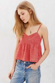 COPE Babydoll Cami in Orange at Urban Outfitters