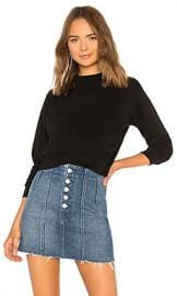 COTTON CITIZEN Milan Cropped Sweatshirt in Jet Black from Revolve com at Revolve