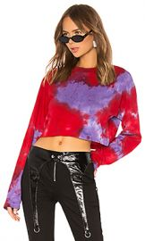 COTTON CITIZEN Tokyo Crop Long Sleeve in Cherry  amp  Lavender Tie Dye from Revolve com at Revolve