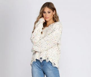 COZY CUTE CONFETTI KNIT SWEATER at Windsor