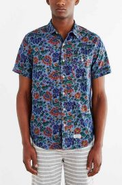 CPO Chambray Painterly Floral Button-Down Shirt at Urban Outfitters