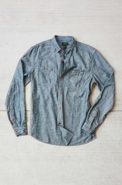 CPO Emile Herringbone Button-Down Shirt in grey at Urban Outfitters