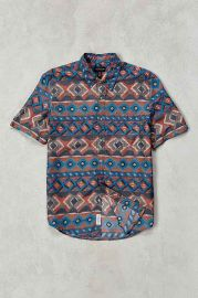 CPO Painted Ikat Short-Sleeve Button-Down Shirt at Urban Outfitters