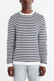 CPO Stripe Rolled Hem Crew Neck Sweater at Urban Outfitters