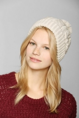Cable- Knit Cuffed Beanie at Urban Outfitters