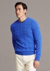 Cable-Knit Cashmere Sweater by Ralph Lauren at Ralph Lauren