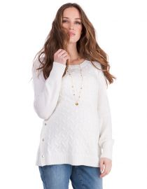 Cable Knit Maternity & Nursing Sweater  at Seraphine
