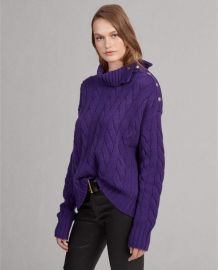 Cable-Knit Turtleneck Sweater at Ralph Lauren