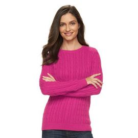 Cable knit sweater at Kohls